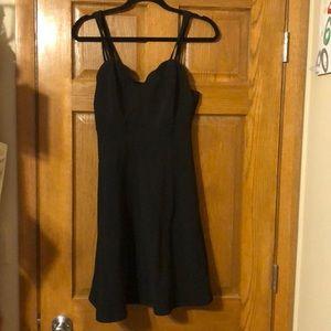 Cute black dress!
